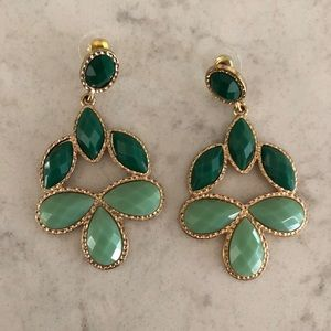 Jewelry - Green Statement Earrings